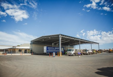 The new Coastal Midwest Transport Canopy in Kalgoorlie