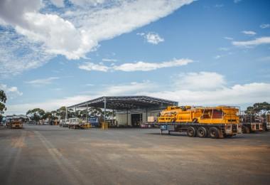 Coastal Midwest Transport yard in Kalgoorlie
